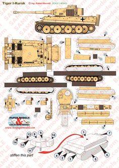 tank print out Paper Car, Paper Plane, Paper Toys, Origami Paper, Diy Paper, Paper Aircraft, Paper Folding, Panzer, Paper Models