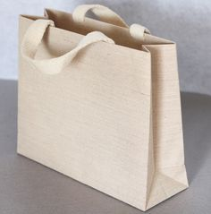 Beige fabric shopping bag, Special paper bag, Order made paper bag, high quality paper bag