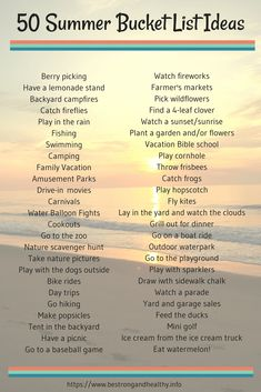 Summertime is a time full of sun, fun and possiblities to make many awesome memories with family and friends - check out these summer bucket list ideas to make your plans!