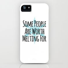 Some People Are Worth Melting For- Frozen (Olaf) iPhone & iPod Case by Lauren Ward  - $35.00