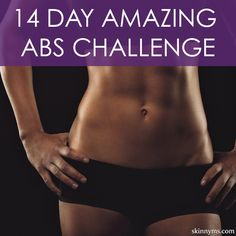 Take the challenge, workout moves and diet tips included! #yesyoucan #abschallenge #absworkout #flatabs #muffintop #rippedabs #toneanddefine