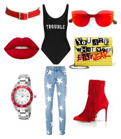 """""""Untitled #25"""" by jabriele on Polyvore featuring STELLA McCARTNEY, RetroSuperFuture, Paul Andrew, Jimmy Choo, ADRIANA DEGREAS, WithChic, Lime Crime and Invicta"""