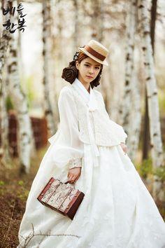 Korean traditional clothes.[dress] #한복 #퓨전한복 #한복드레스 #한복여행 #trip #hanbok #베틀한복 #white
