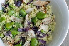 Couscous met makreel en tuinbonen
