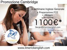 4 Settimane di Inglese Generale + 4 Settimane di Preparazione per esame FIRST + 4 Settimane di Alloggio + Iscrizione  A soli 1100€!!