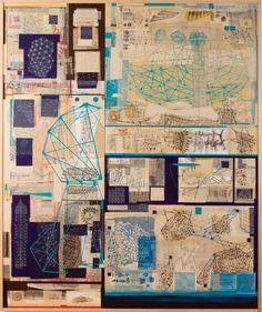"Stephen Talasnik, ""Modern Measurement,"" 2008, collage on panel"