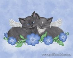 Snuggle Angels by MelissaDawn.deviantart.com on @deviantART