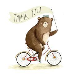Thank you bear illustrated by Samara Hardy.