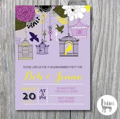 Housewarming Party Invitation Invite  new home by irinisdesign