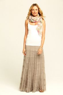 Trista Cotton Tank $45 (But I'm going for the gorgeous skirt and scarf!)