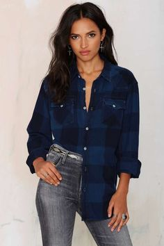 After Party Vintage Tried And True Flannel - Navy | Shop Clothes at Nasty Gal!