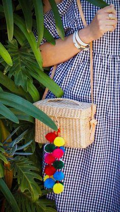 Summer essentials  Straw  Beach Bag   Pom poms   Basket bag   558229ad64a