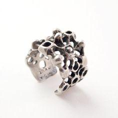 "Unn Tangerud for Uni David Andersen, vintage modernist sterling silver sculptural ring designed. This piece was part of David-Andersen ""Troll Series"" of 1964. #Norway"