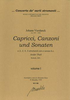 Capricci, canzoni und sonaten (ander Theil - Rostock, 1641)