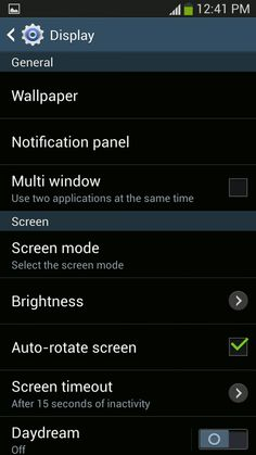 How To Use Display Settings On Samsung Galaxy S4 - Galaxy S4
