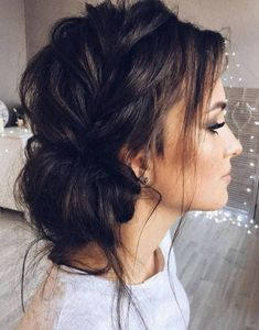 Cool Latest Tousled Hairstyles Ideas For Every Length Hair – Hair Internet Easy Hairstyles For Medium Hair, Box Braids Hairstyles, Wedding Hairstyles, Fashion Hairstyles, Buns For Long Hair, Bridesmaid Hairstyles, Updo Hairstyle, Summer Hairstyles, Pretty Hairstyles