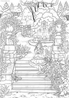Magic Garden – Favoreads Coloring Art Club Whale Coloring Pages, Garden Coloring Pages, House Colouring Pages, Elephant Coloring Page, Spring Coloring Pages, Tree Coloring Page, Printable Adult Coloring Pages, Flower Coloring Pages, Disney Coloring Pages