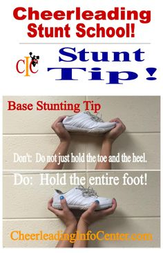 For TONS of cheerleading stunting tips, check out CheerleadingInfoCenter.com