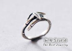 Handmade Silver Bamboo Wrap Ring Handmade 925 Silver by HXStudio