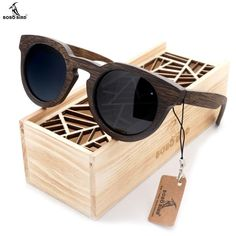 b398c6b5a912 Wooden Bamboo Glasses Wooden Sunglasses, Circle Sunglasses, Beach Sunglasses,  Luxury Sunglasses, Polarized