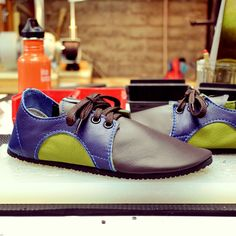 Design-Your-Own Shoe of the Week: Handmade Dash RunAmocs in Chocolate, Deep Blue and Avocado!