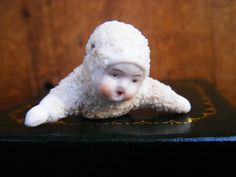 1920's German Snow Baby Tiny Antique Snowbabies by exploremag, $39.00