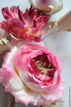 Броши ручной работы. Цветы из шелка Брошь Роза Августа. Шелковая модница. Ярмарка Мастеров. Роза для прически, заколка с цветком
