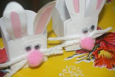 DIY Easter : DIY Easy Kindy Teacher Easter Gifts - Bunny Baskets