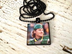 Oakland Athletics necklace John Jaso Necklace by QUEENBEADER, $16.25