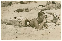 Beach scene, 1930s / by Sam Hood by State Library of New South Wales collection, via Flickr