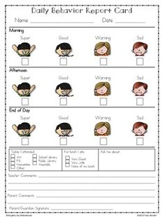 Like using a clip chart for tracking behavior management in a special needs environment? Here is a free printable visual behavior clip chart tracking sheet Preschool Daily Report, Behavior Chart Preschool, Behavior Chart Printable, Kindergarten Behavior, Student Behavior, Classroom Behavior, School Classroom, Free Printable, Classroom Ideas