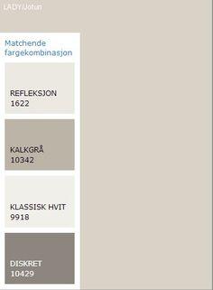 Matchende farger til Lady Kalk Hvordan fargesette en leilighet før salg