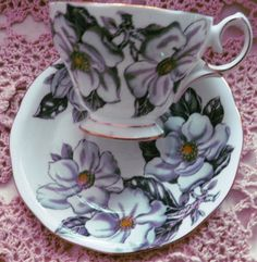 Queen Anne Magnolia fineEnglish  bone china Teacup by ChinaGalore, $24.99