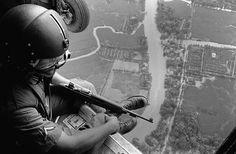 3A Helmeted U.S. Helicopter Crewchief #Vietnam #War