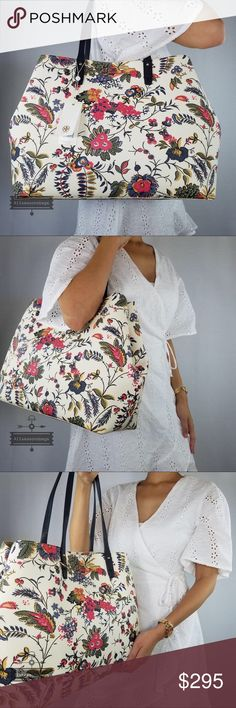e1036a815436 Tory Burch Kerrington floral ivory Gabriella Tote . Tory Burch Bags Totes  Shopper Bag
