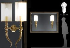 Decorative Wall Mirror With Decorative Lamps K 5187 Designed  by Kny Design Austria  www.kny-design.com Wall Mirror, Wall Sconces, Decorative Lamps, Crystal Wall, Contemporary Chandelier, Lighting Solutions, Candle Sconces, Lighting Design, Austria