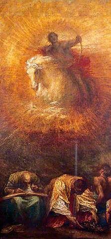 The Athenaeum - Progress (George Frederic Watts) Mark Rothko, Your Paintings, Beautiful Paintings, Art Jaune, York Museum, Victorian Paintings, Yellow Art, Art Et Illustration, Pre Raphaelite