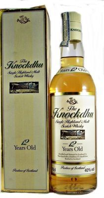 The Knockdhu 12 year old Single Malt Scotch Whisky 40% 70cl An Cnoc whisky under its old distillery name of Knockdhu