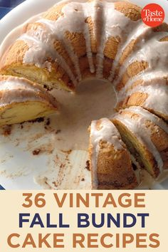 36 Heirloom Fall Bundt Cake Recipes They're sweet, comforting and just like grandma used to make! Bunt Cakes, Cupcake Cakes, Cupcakes, Fall Recipes, Holiday Recipes, Grandma's Recipes, Candy Recipes, Recipies, Köstliche Desserts