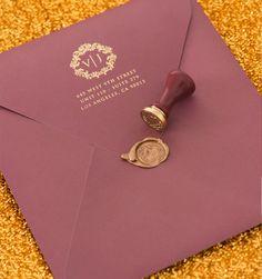 red gold envelope wedding - Penelusuran Google