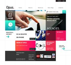 Opus Recruitment Website and Logo Project   4MAT.com