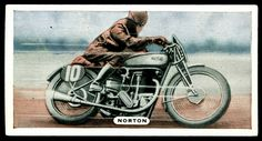 Cigarette Card - Isle of Man TT Norton Motorcycle by cigcardpix, via Flickr