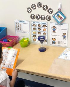 Having a break zone in my classroom is something I am sure to include every year. Having a break zone in my classroom is something I am . 2nd Grade Classroom, Autism Classroom, Special Education Classroom, Classroom Setting, Classroom Setup, Classroom Design, Kindergarten Classroom, Future Classroom, Classroom Rewards