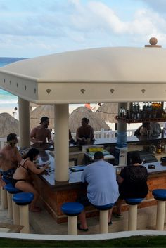 "Let me introduce you to our most famous bar: ""The Tiki bar"".   Cancun 
