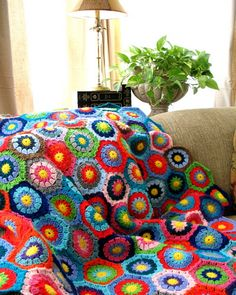 My great grandmother crocheted very similar throw for me. Can't wait to use it in a little girl's room one day.