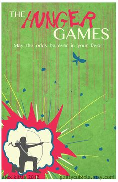THE HUNGER GAMES Original Poster Art by guiltycubicle on Etsy, $15.00