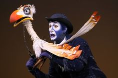 """Jeff Binder as """"Zazu"""" from the Broadway production in The Lion King musical."""