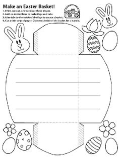 Make an Easter Basket coloring page