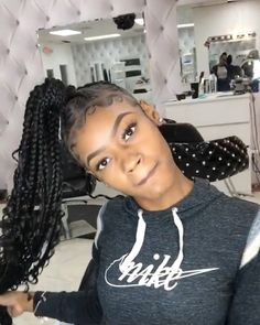 43 Cool Blonde Box Braids Hairstyles to Try - Hairstyles Trends Box Braids Hairstyles, Lemonade Braids Hairstyles, Braided Ponytail Hairstyles, Braided Hairstyles For Black Women, My Hairstyle, Hairstyles Videos, School Hairstyles, Black Girl Braids, Braids For Black Hair