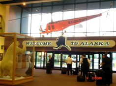 Anchorage Alaska Airport - the old north terminal. My first memory of Alaska from 2008